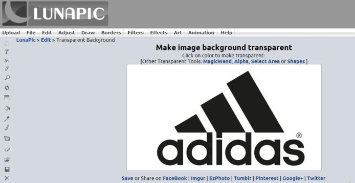 adidas logo to make transparent