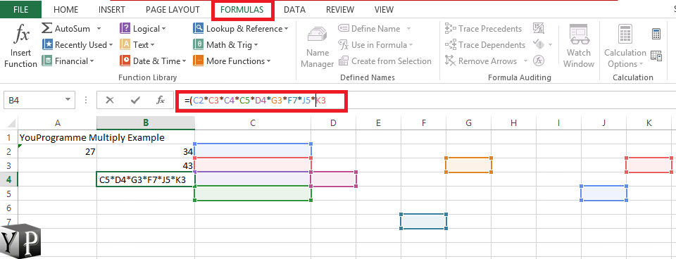 How To Multiply In Excel Spreadsheet