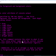 list to change colors in command prompt