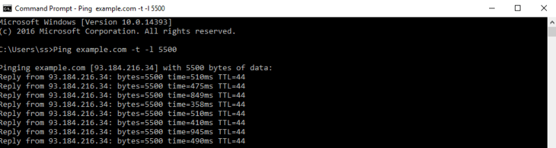 ddos minecraft server using command prompt