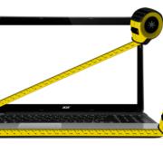 measure laptop screen size