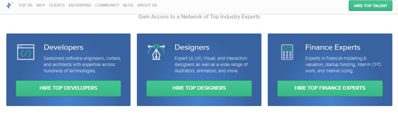 toptal freelance site