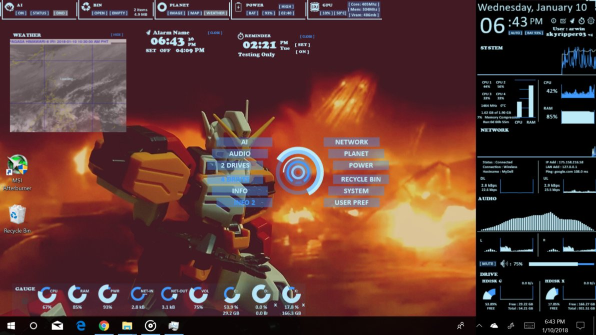 15+ Addictive Rainmeter Skins For Windows 10, 8, 7