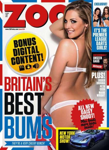 Daisy Watts 749x1024 - Daisy Watts presents Britain's Best Bums for Zoo Magazine