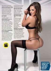 Daisy Watts1 - Daisy Watts presents Britain's Best Bums for Zoo Magazine