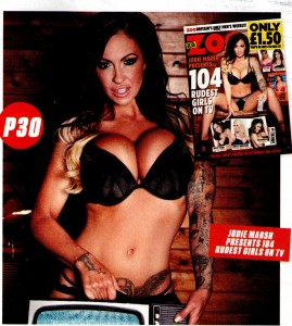Jodie Marsh1 - Jodie Marsh presents 104 Rudest Girls on TV for Zoo Magazine