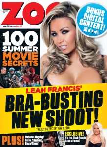 Leah Francis9 - Leah Francis Bra Busting New Shoot for Zoo Magazine
