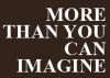 More Than You Can Imagine