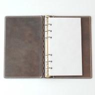 バイブル レザー蝶番のシステム手帳 Brown 1