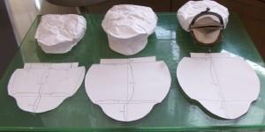 ガマ口の型紙を試作