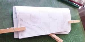 オーダーメイドの長財布の試作品・表側