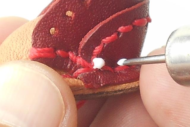 全体の形を整えてから糸を切るのがポイントです