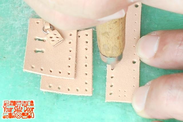 縫い穴をしっかり開けておくと手縫いが楽になります