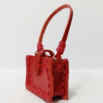 革のぷち肩掛け鞄の手作りキットをお作り頂きました