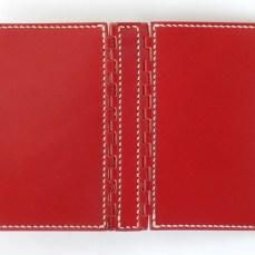 ミニ6穴 レザー蝶番のシステム手帳 Red 3