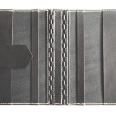 蝶番のレザーブックカバー Black 3