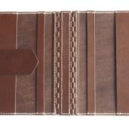 蝶番のレザーブックカバー Brown 3