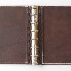 ミニ6穴 レザー蝶番のシステム手帳 Brown 4