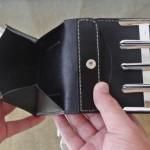 小銭ポケット(コインキャッチャーの二つ折り財布)