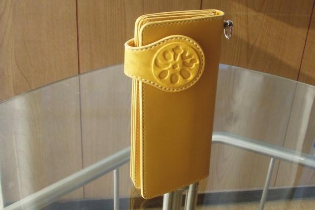 完成したオーダーメイドの長財布です。