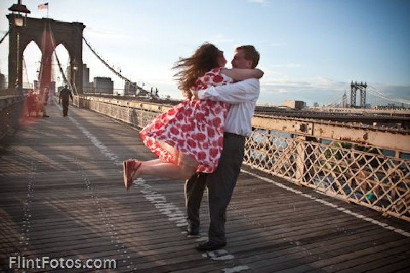 Brooklyn bridge romantique