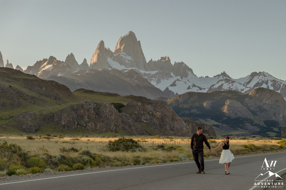 What is an adventure wedding - Couple in Patagonia