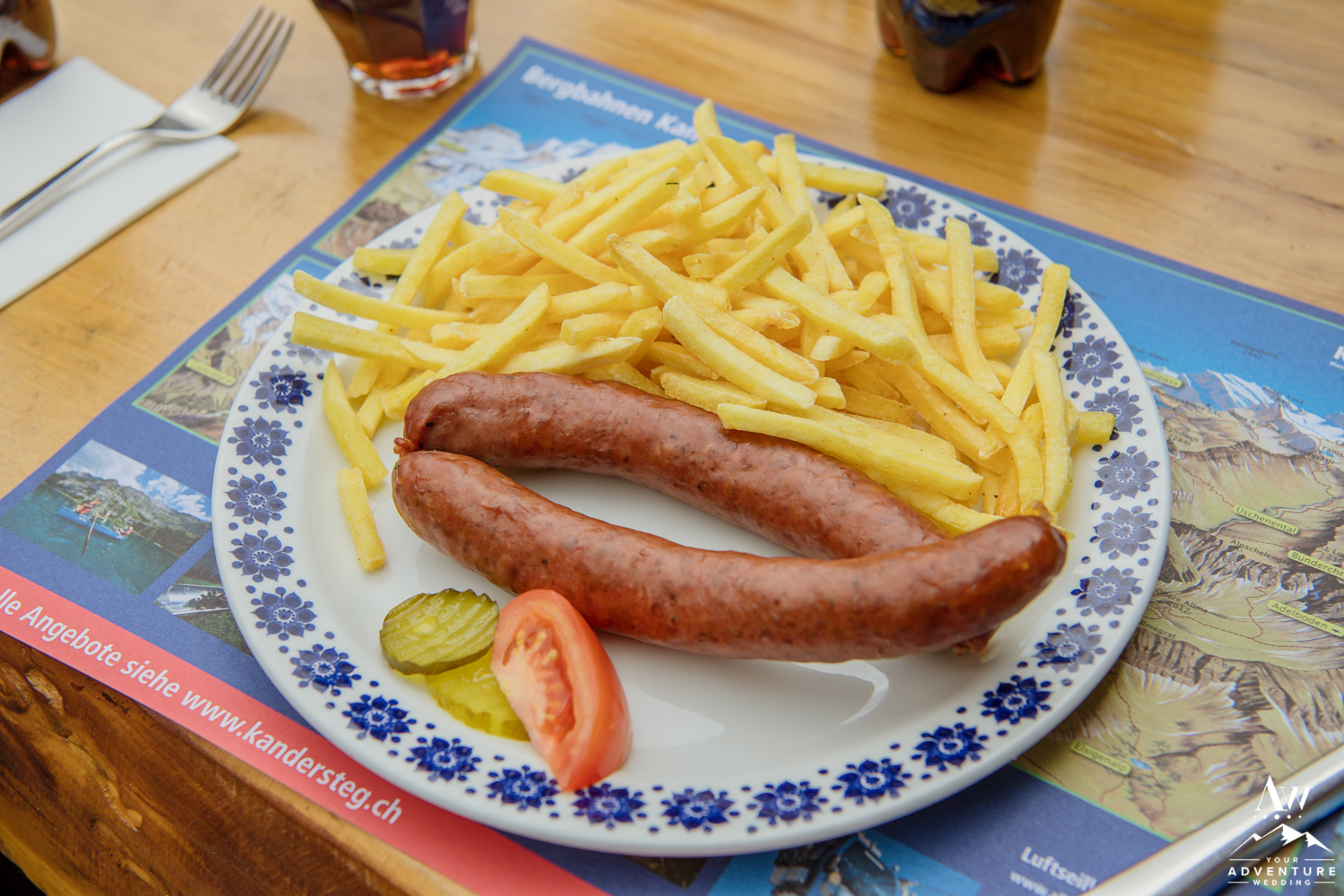Traditional Lunch Meal at Oeschinensee Lake