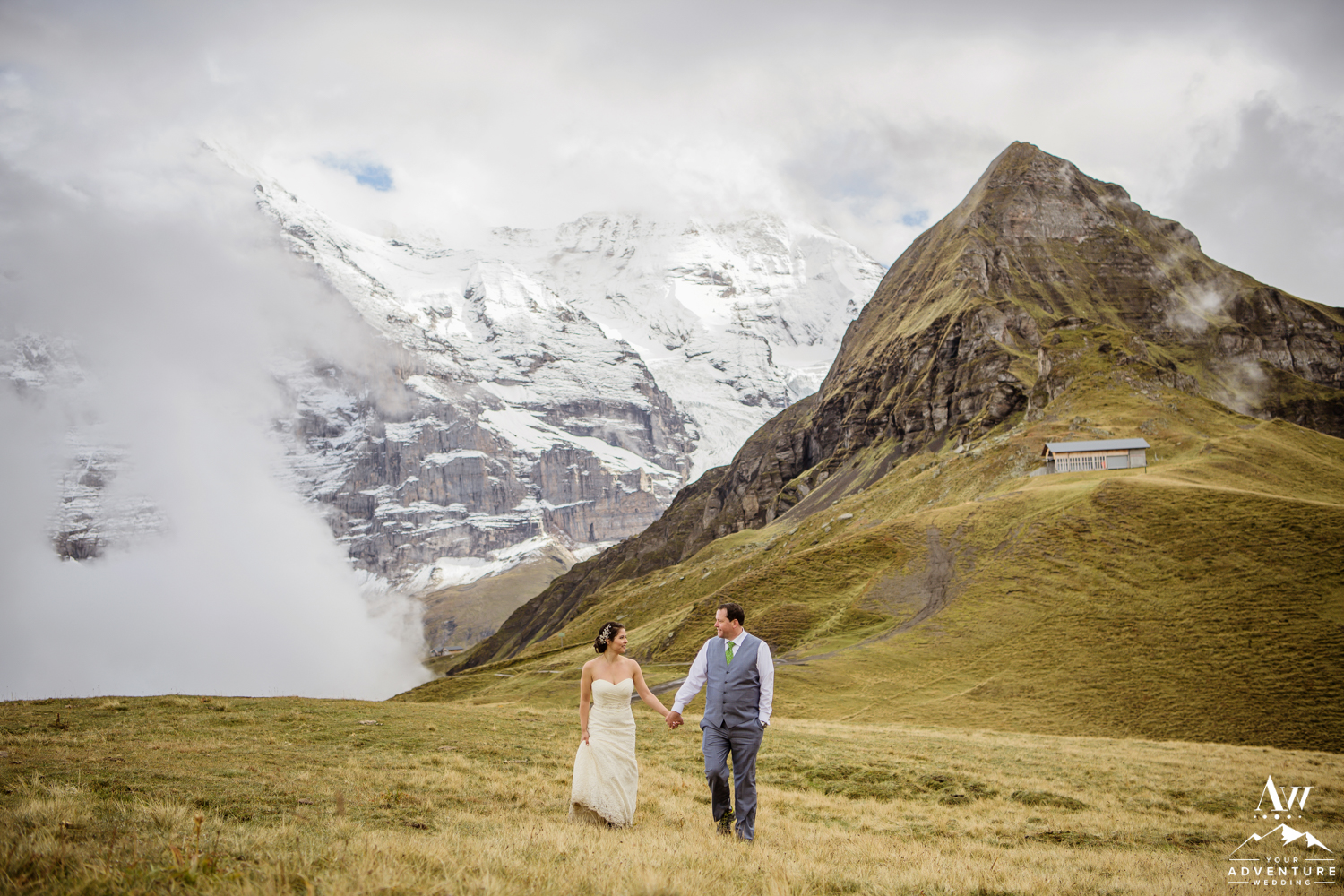 Switzerland Elopement photos at the Männlichen Summit