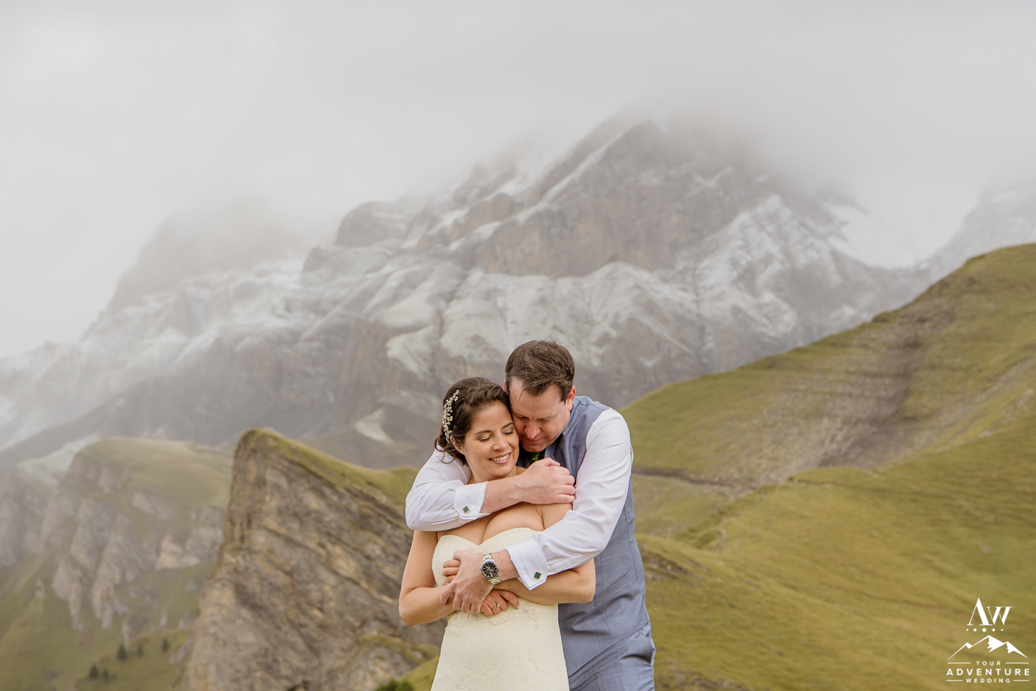 Intimate Adventure Wedding Photos on Engstligenalp mountain