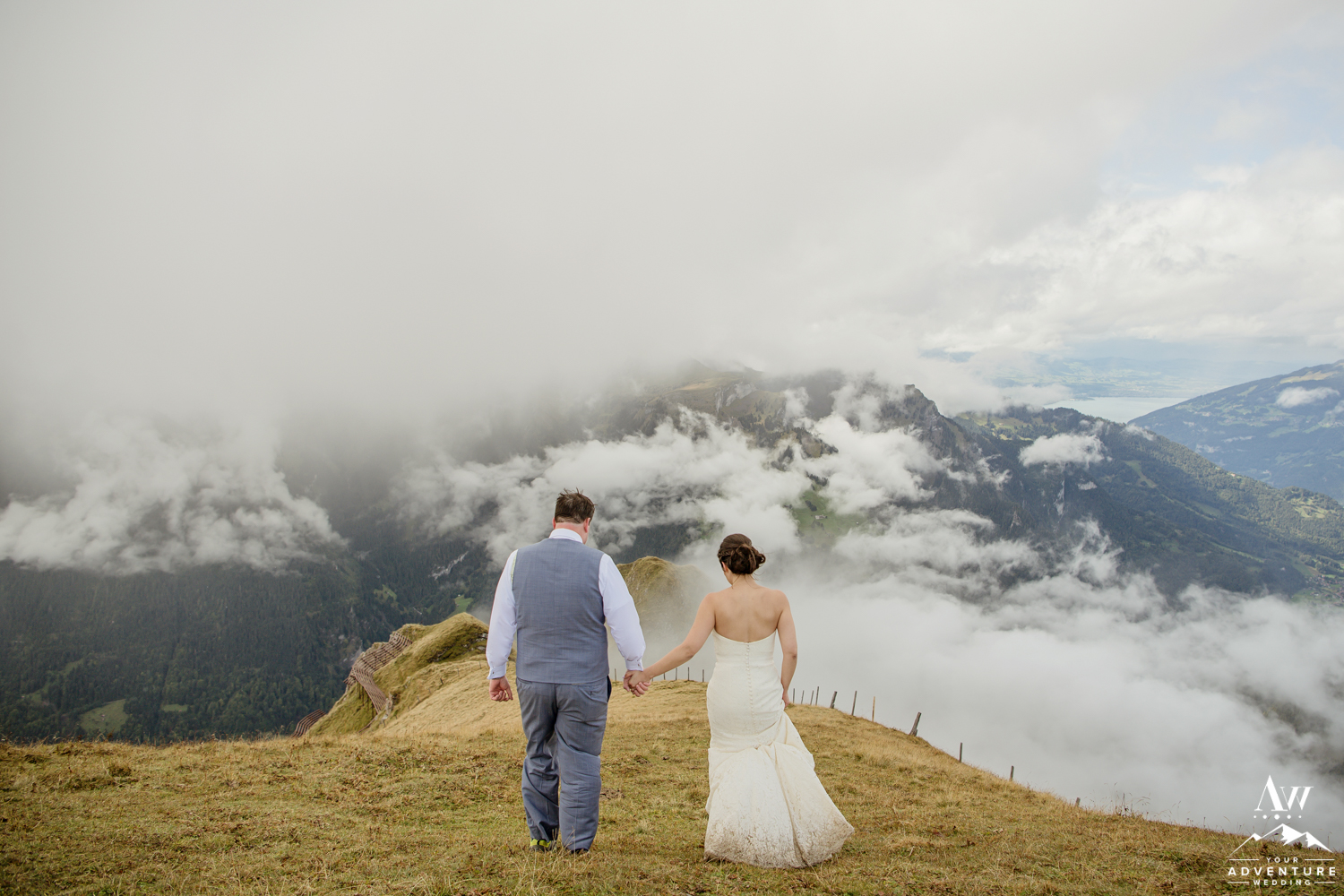 Männlichen Summit Wedding Photos in Switzerland