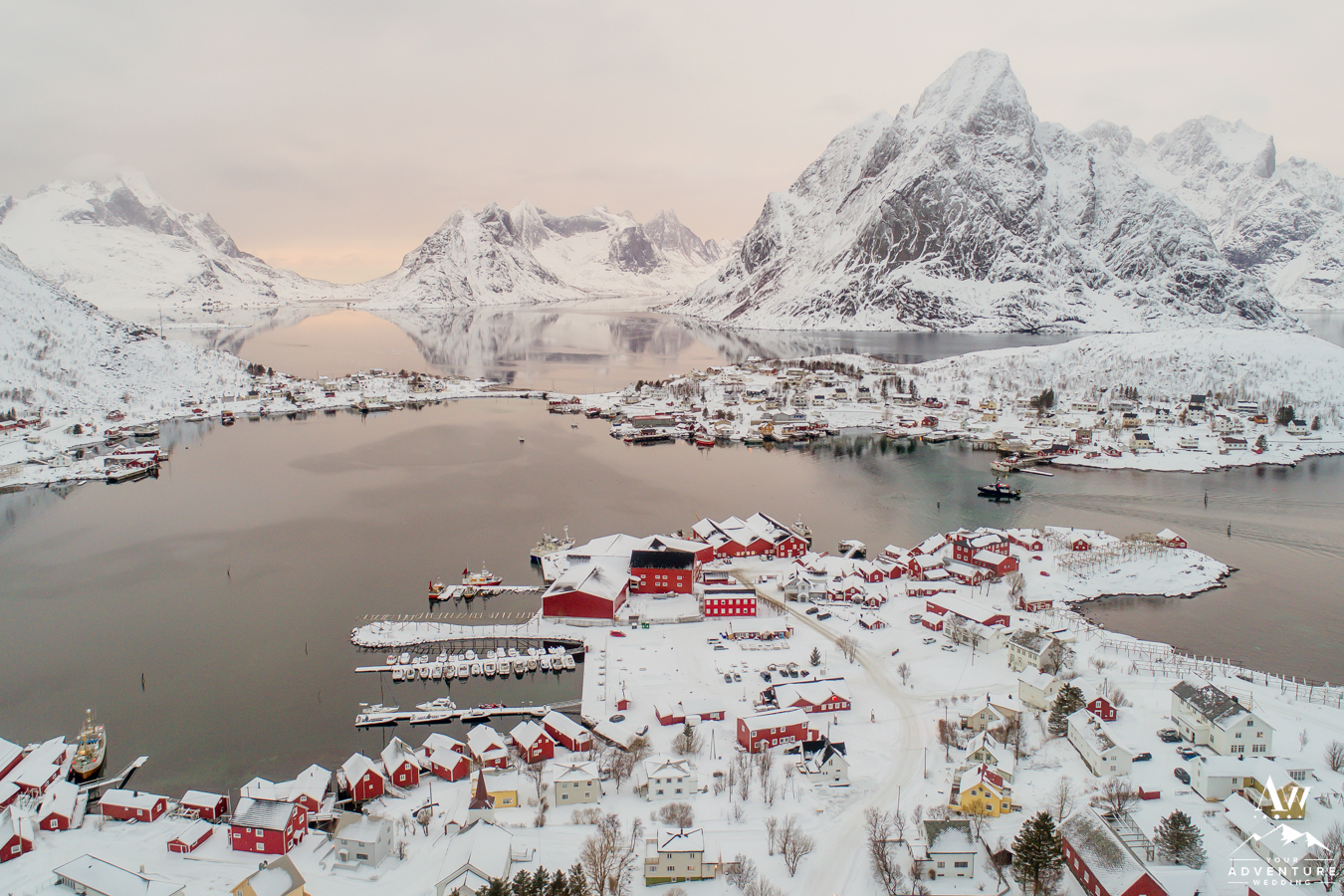 Reine Rorbuer at Sunset