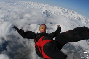Skydiving Wedding over Fox Glacier New Zealand