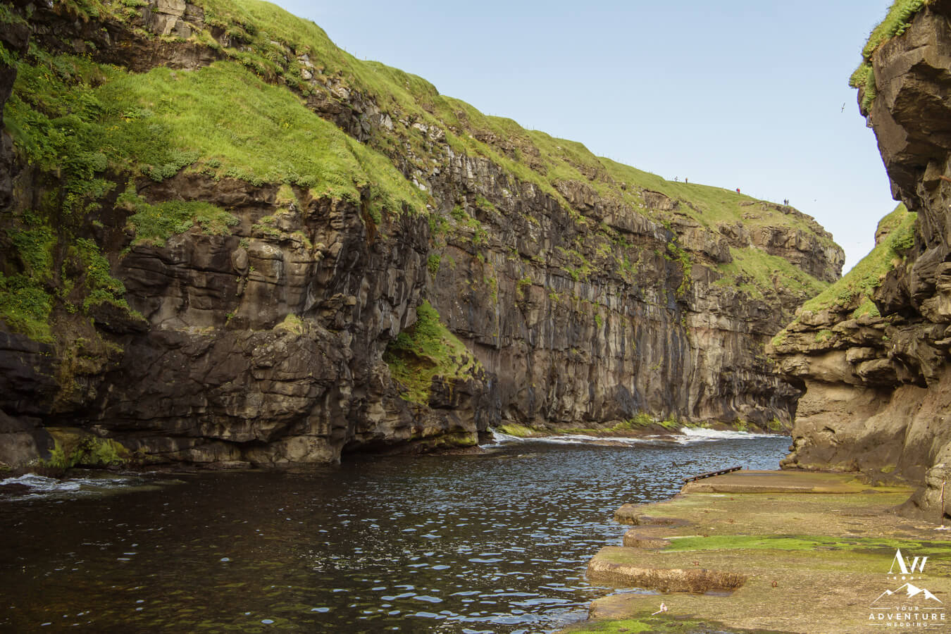 Gjogv is an adventure wedding location in the Faroe Islands