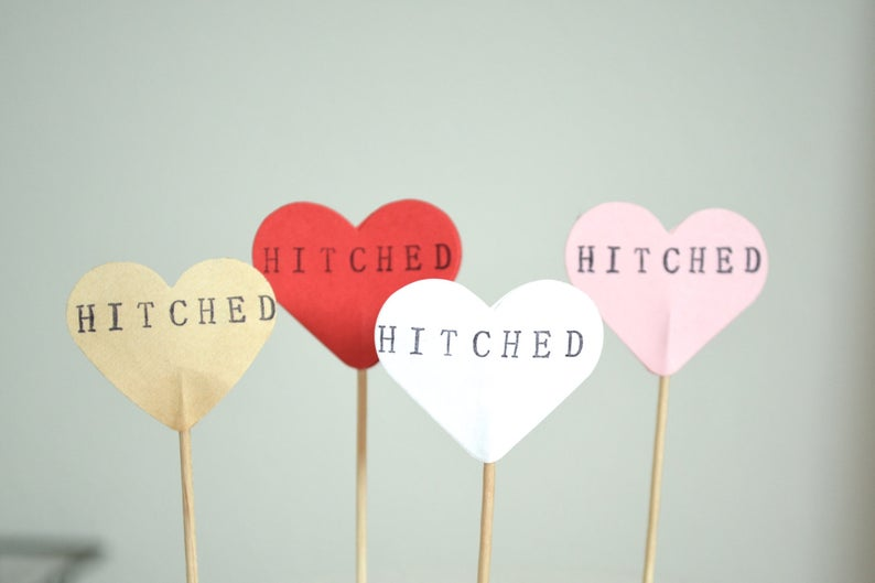 Hitched Wedding Favours
