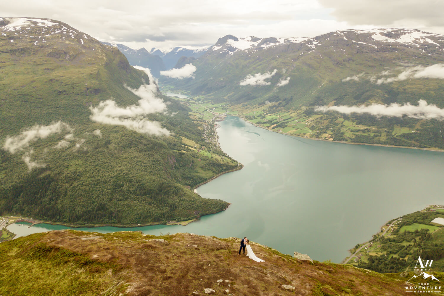 Norway Elopement at Loen Skylift