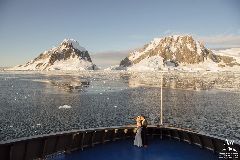 Wedding Couple aboard the Magellan Explorer Antarctica