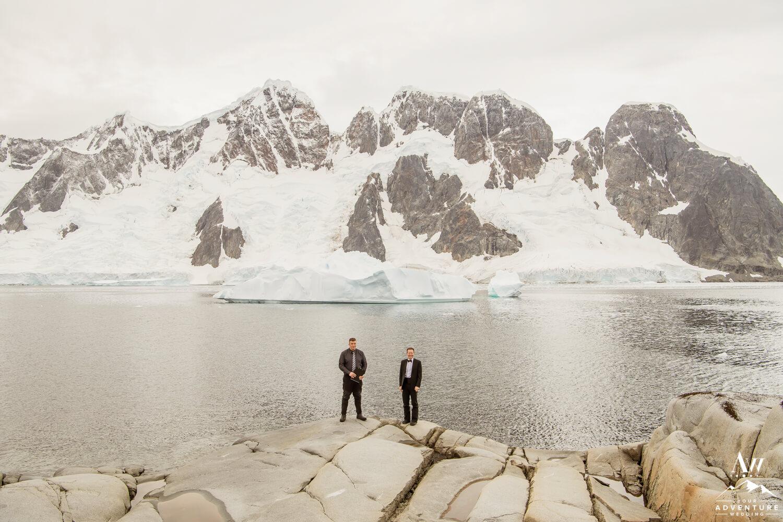 Antarctica Wedding Expedition Groom Waiting