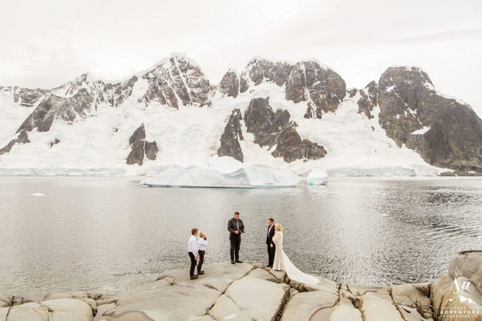 Antarctica Wedding Expedition Ceremony