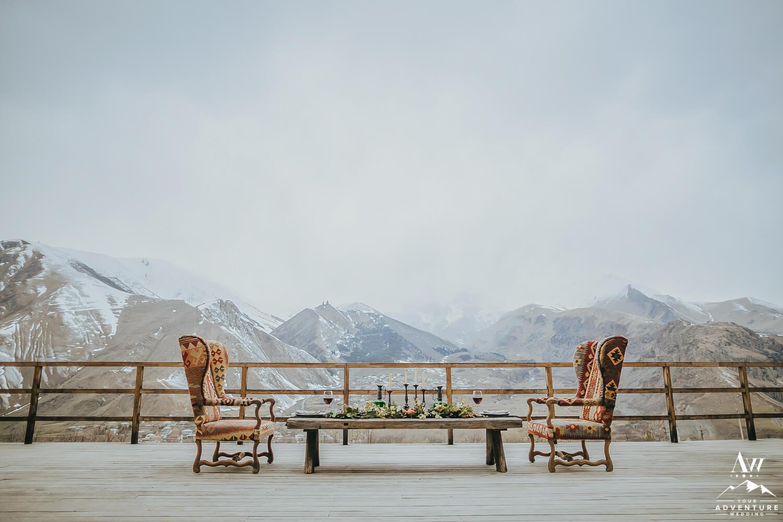 Canadian Wilderness Wedding Elopement Table