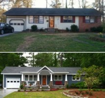 Ranch Style Home Before and After
