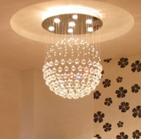 Crystal Ball Chandelier Lighting Fixture | Interior Design ...