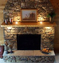 Faux Stone Fireplace Mantel | Interior Design Ideas