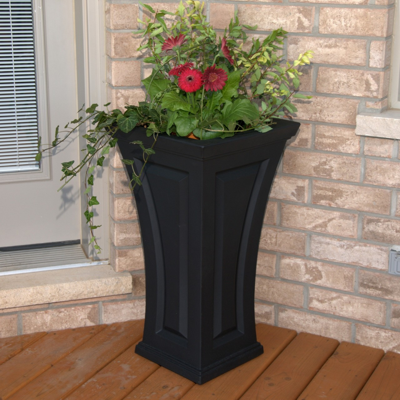 Tall White Outdoor Planters