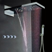 Waterfall Shower Head Led | Interior Design Ideas