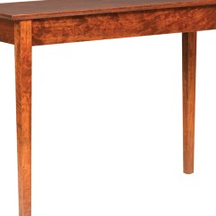 Amish Built Sofa Tables Italian Brands Singapore Buckeye Shaker Table Stutzmans Furniture All Our Made
