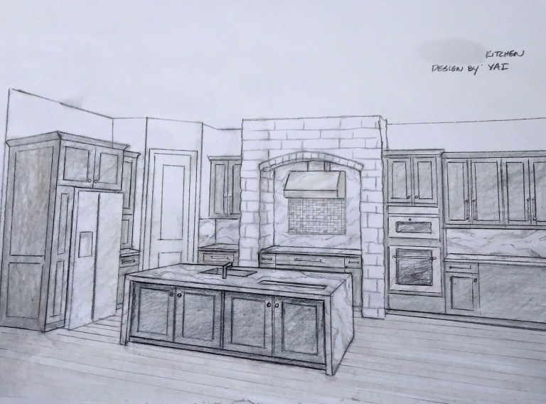 Kitchen Rendering- Colored