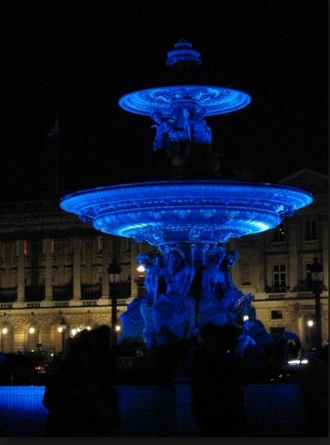 Hommage a Yves Klein I Paris Place de la Concorde, 2006
