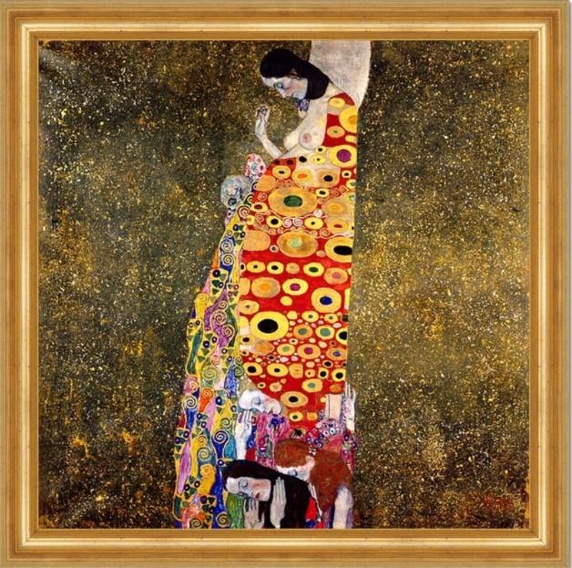 Gustav Klimt Hoffnung II, 1907-08, Öl auf Leinwand, 110.5 x 110.5cm, Museum of Modern Art in New York.
