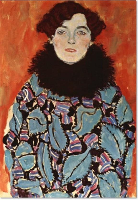 Gustav Klimt, Johanna Staude, (unvollendet), 1917-18, Öl auf Leinwand, 70 x 50 cm. Österreichische Galerie Belvedere, Wien.
