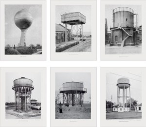 """Bernd und Hilla Becher, Sechs Wassertürme 1976 Set of 6 offset lithographs, each print 52 x 40 cm (20½ x 15¾""""), each signed on verso. Artist´s proof in addition to an edition of 385"""